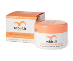 Крем с экстрактом плаценты, витамином Е и Ланолином, Rebirth Placenta Anti-Wrinkle Cream 100мл Возраст 25+