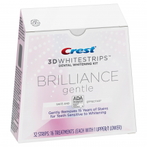 CREST 3D WHITESTRIPS BRILLIANCE GENTLE