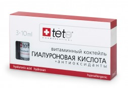 Гиалуроновая кислота - Антиоксиданты / Hyaluronic Acid & Antioxidants/ (Vit.C) / Tete Cosmeceutical 3 флакона